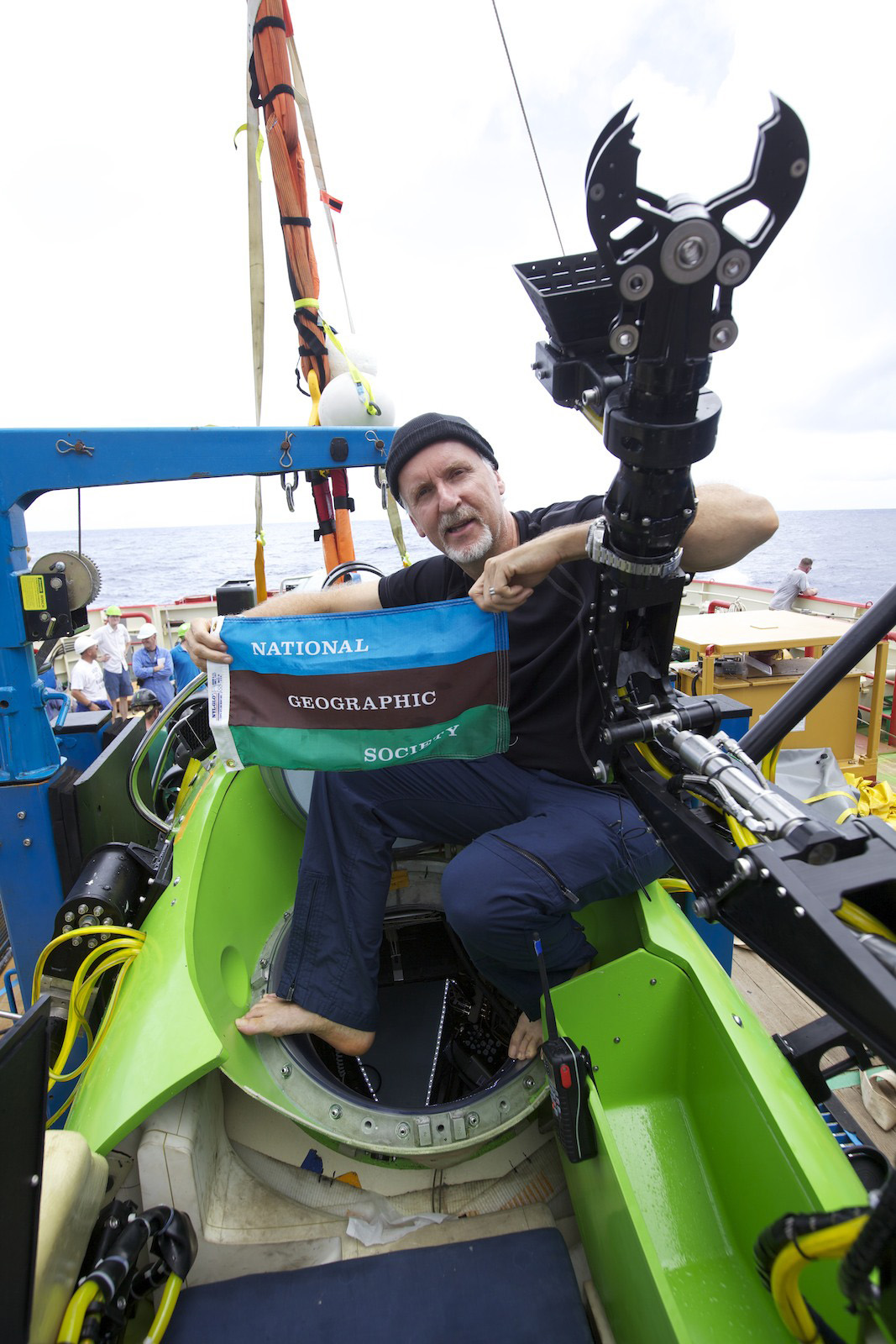 James Cameron bei seiner Expedition DEEPSEA CHALLENGE 2012