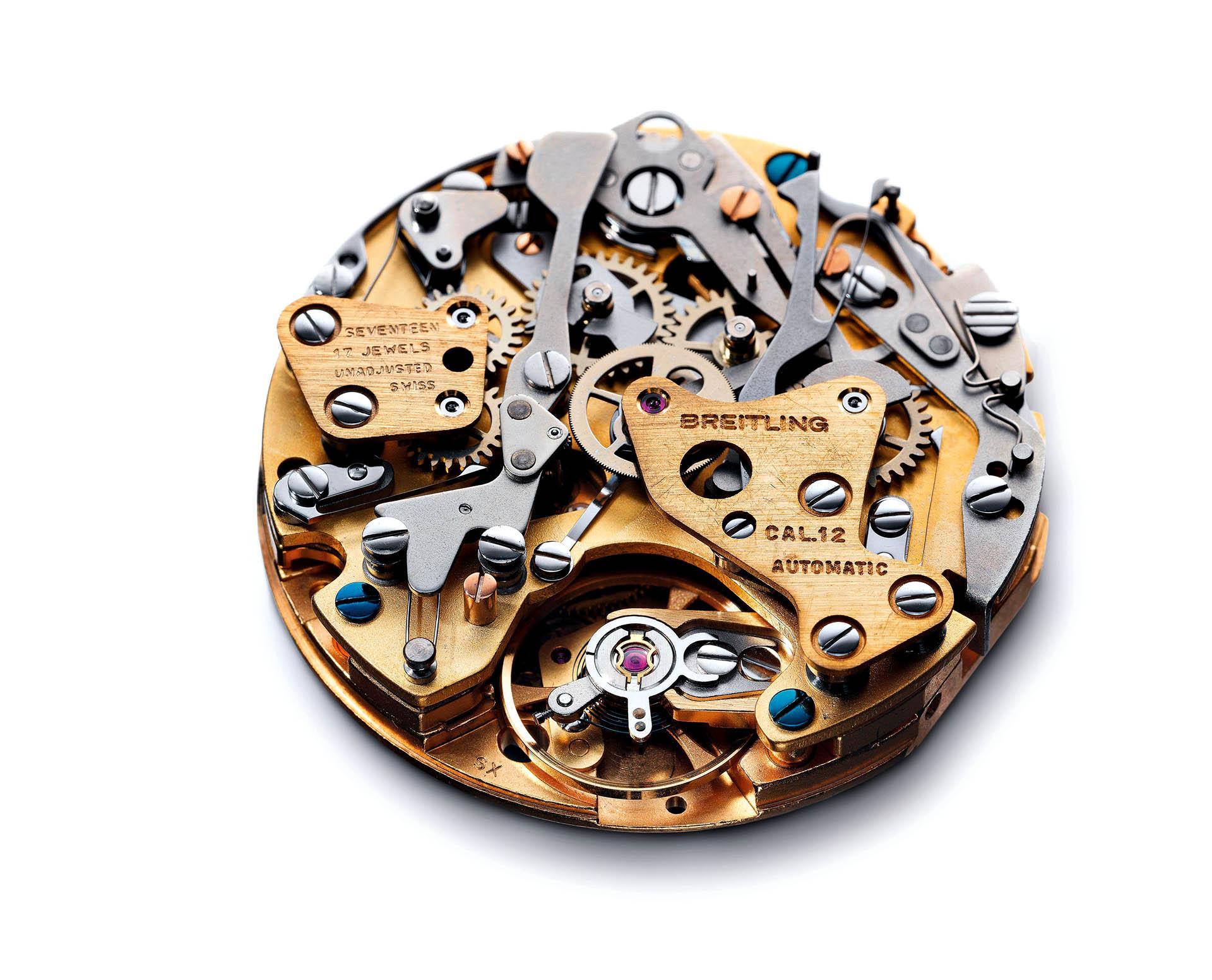 Automatikchronograph Kaliber 12 von Heuer und Breitling