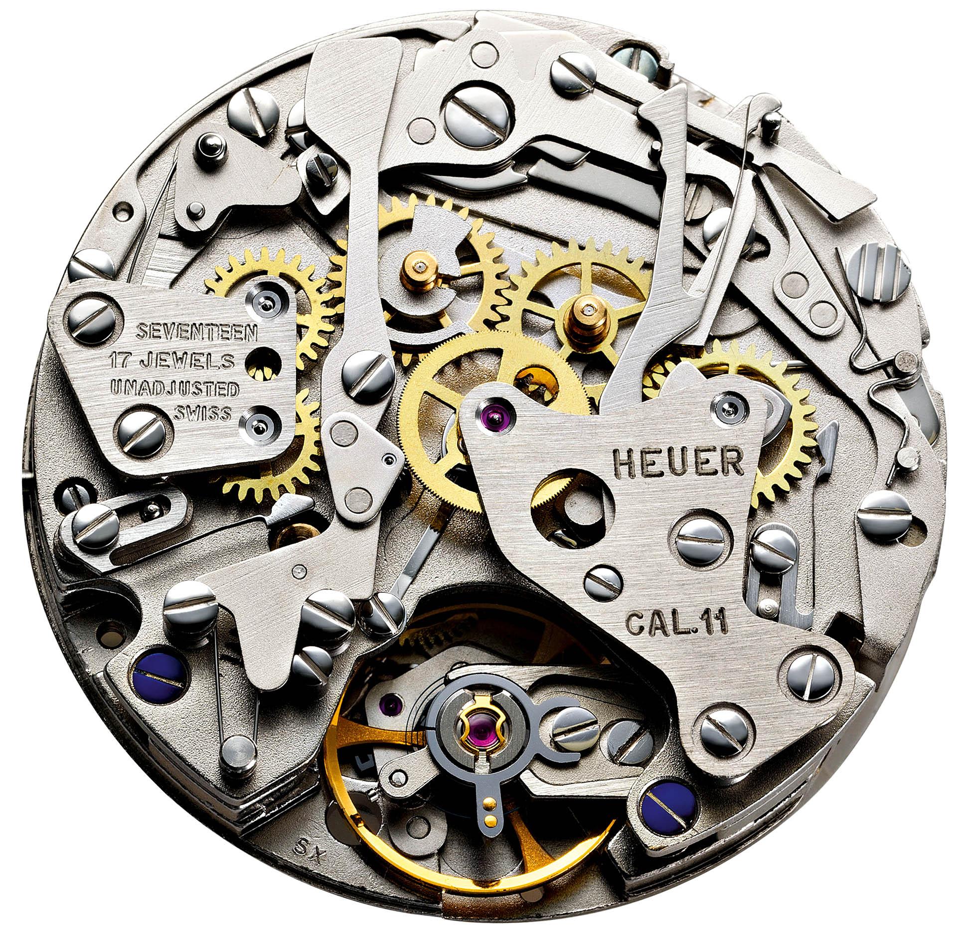 Automatikchronograph Kaliber 11 von Heuer und Breitling