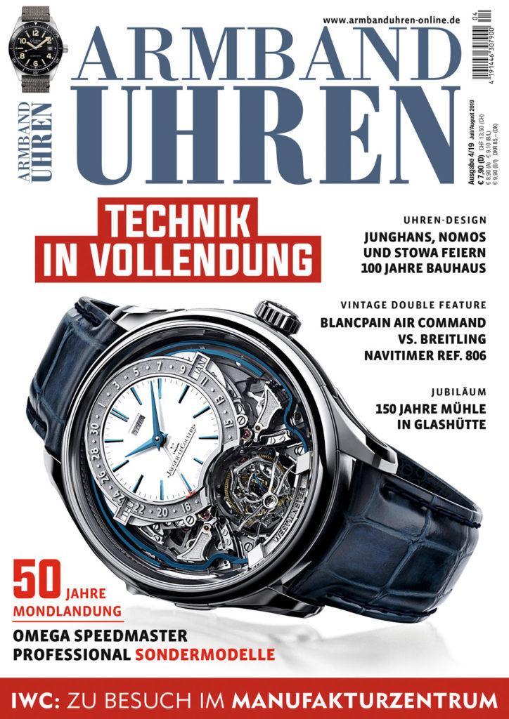 Armbanduhren Ausgabe 4-2019, Cover, Special 50 Jahre Mondlandung