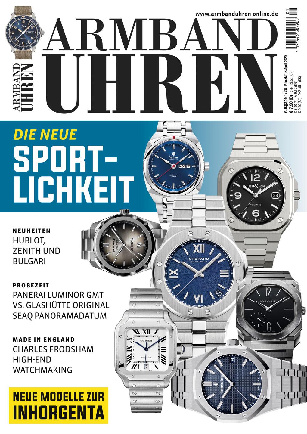 Cover des Magazins Armbanduhren Ausgabe Nr. 1 aus 2020