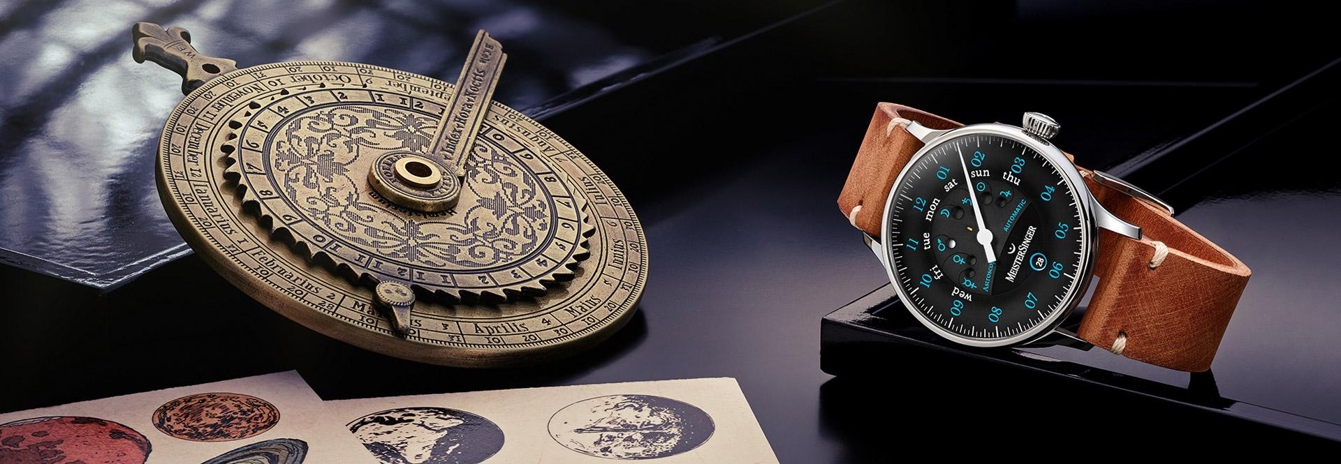 MeisterSinger Astroscope Einzeigeruhren fuer Sternengucker