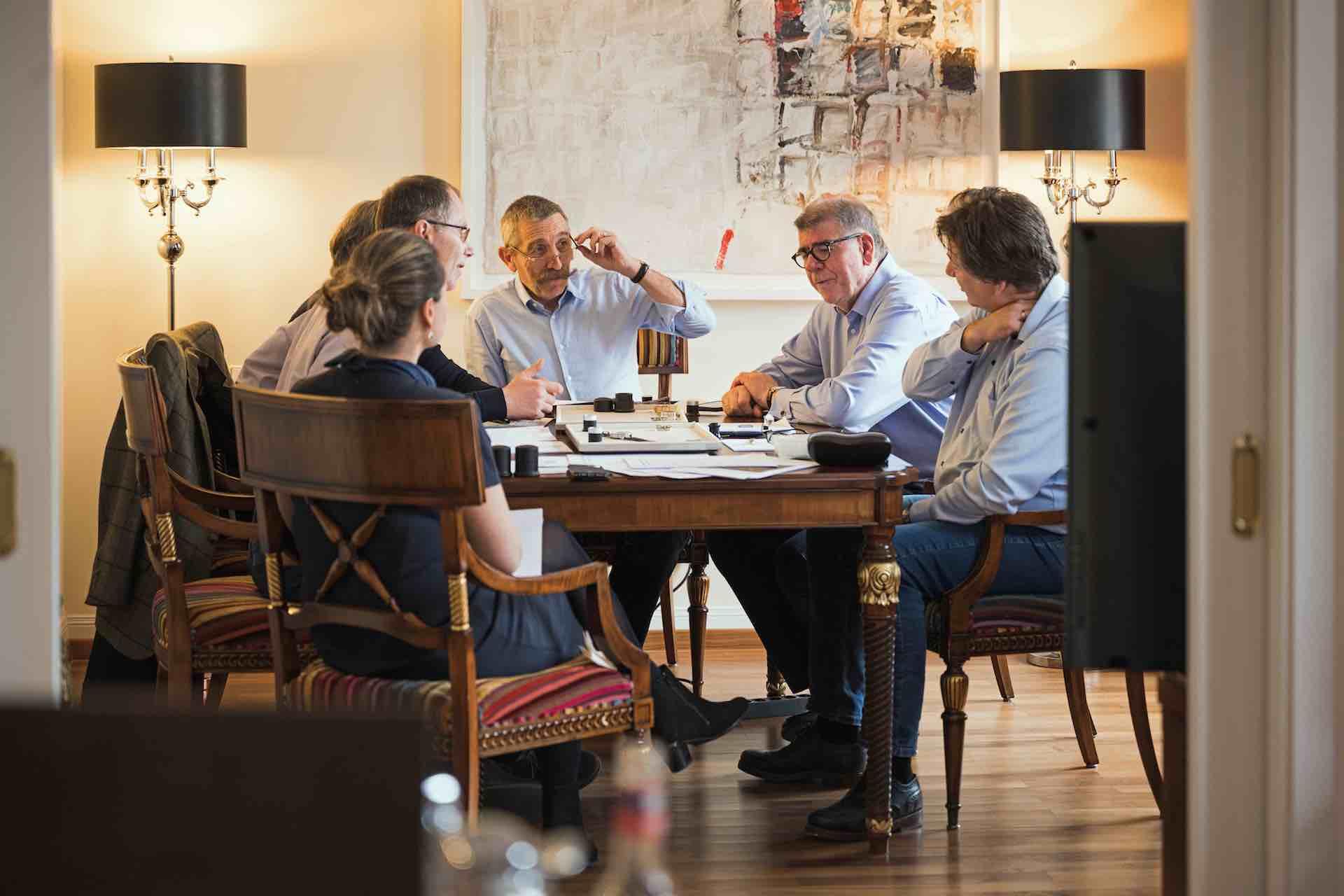 Jurysitzung des zehnten Walter Lange Watchmaking Excellence Award in Dresden