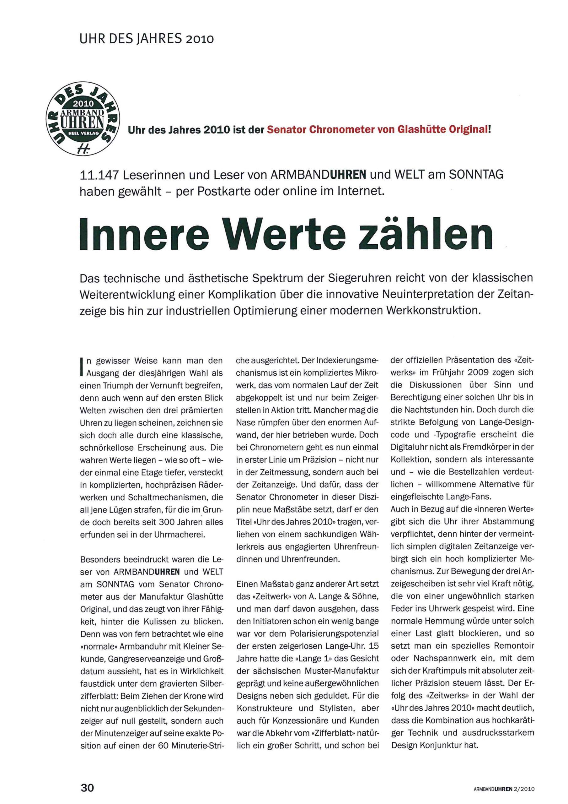 Seite 30 Uhr des Jahres 2010