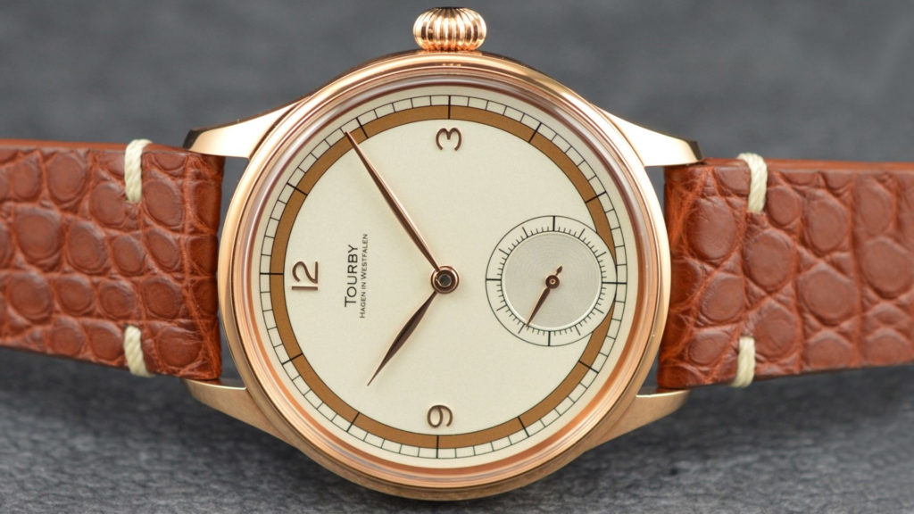 Tourby Art Deco Sector Dial Roségold