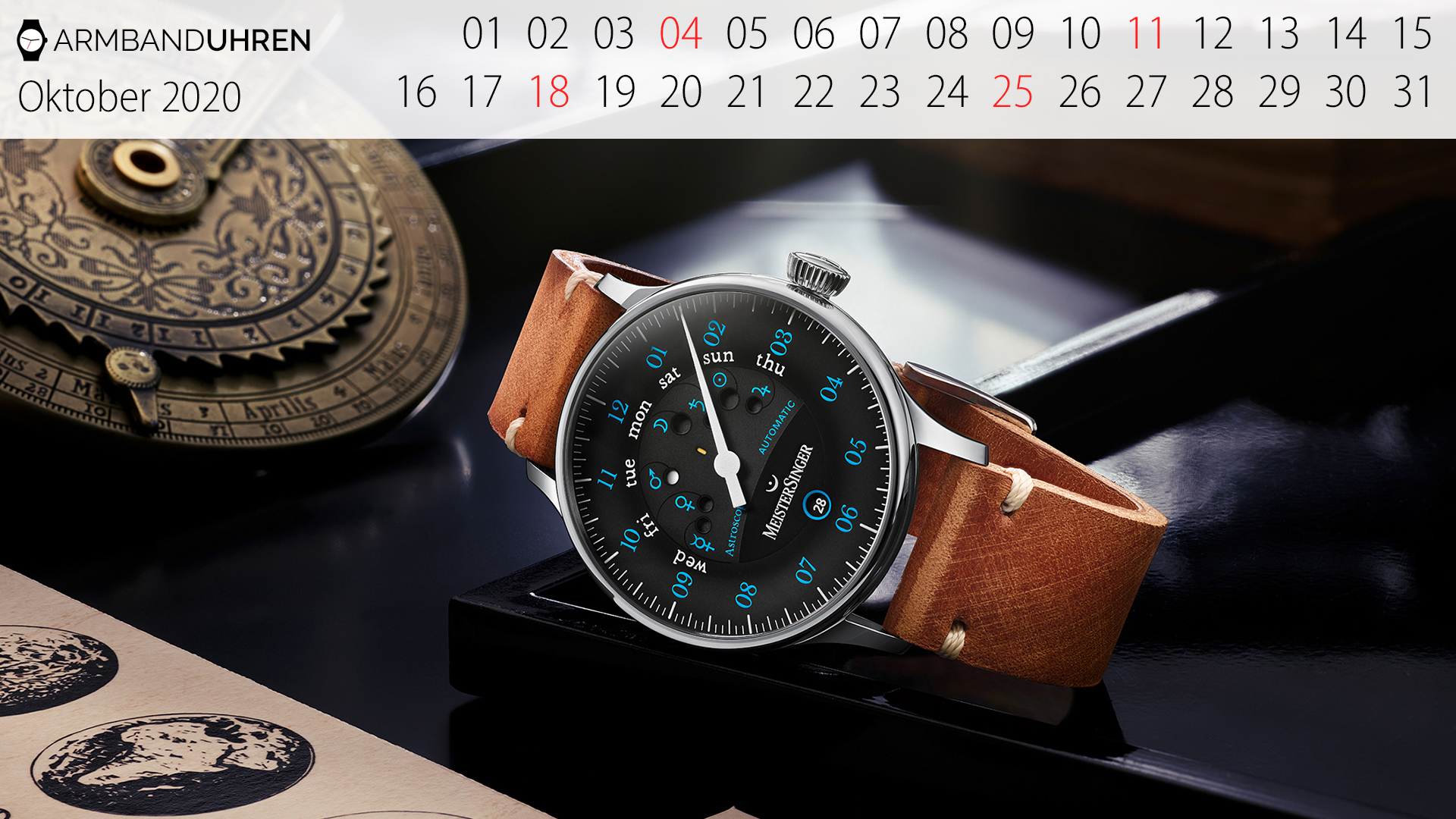 "MeisterSinger ""Astroscope"" Blue, Uhr des Monats Oktober 2020"