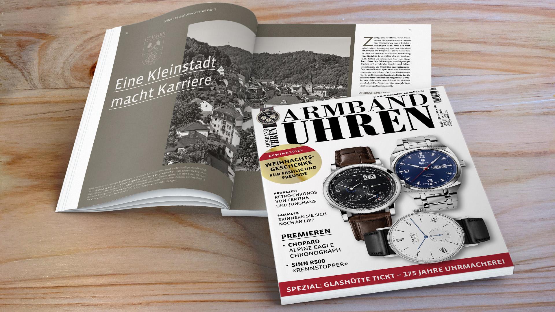 Armbanduhren 175 Jahre Glashütte