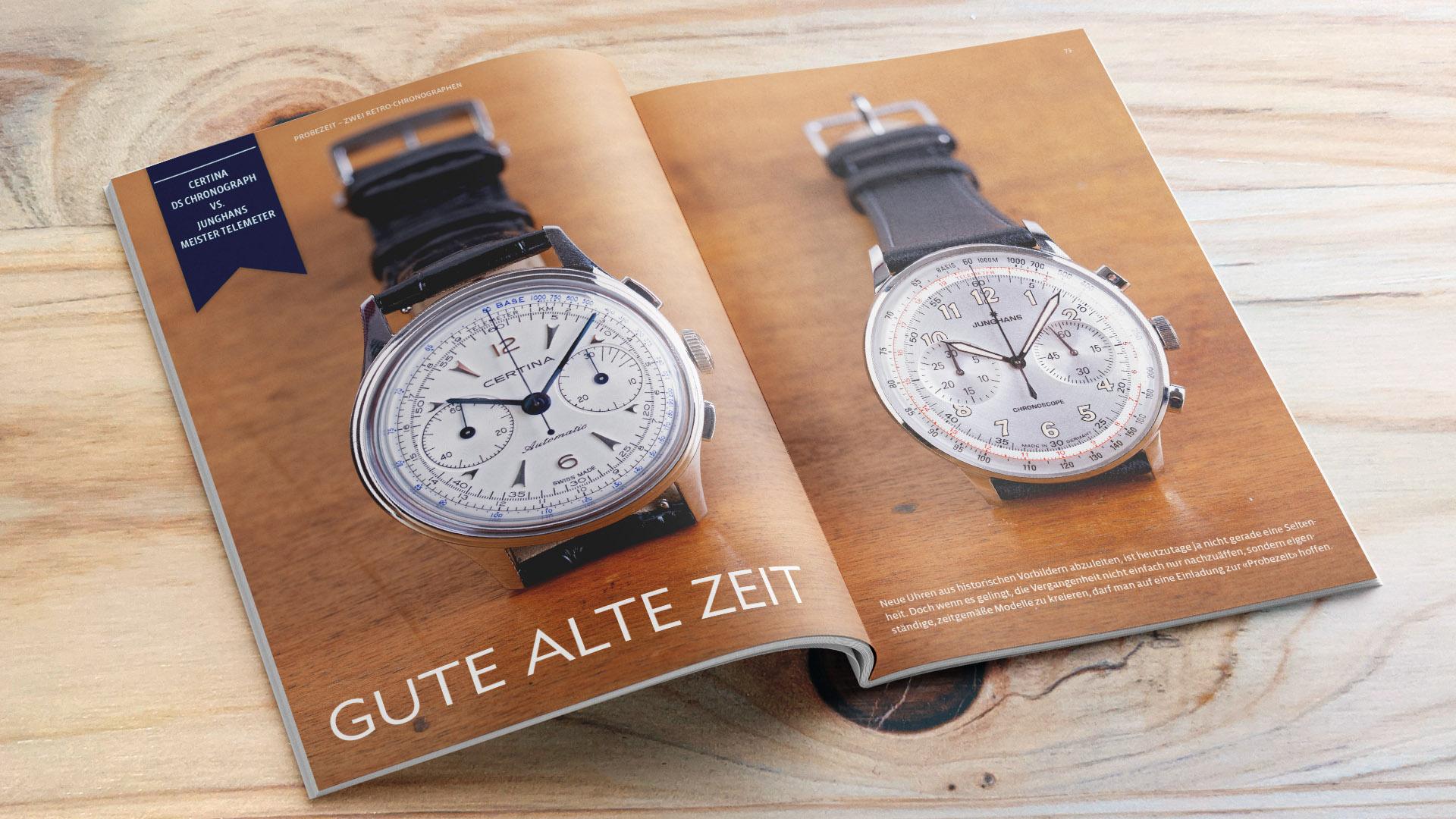 Armbanduhren Probezeit Certina vs Junghans