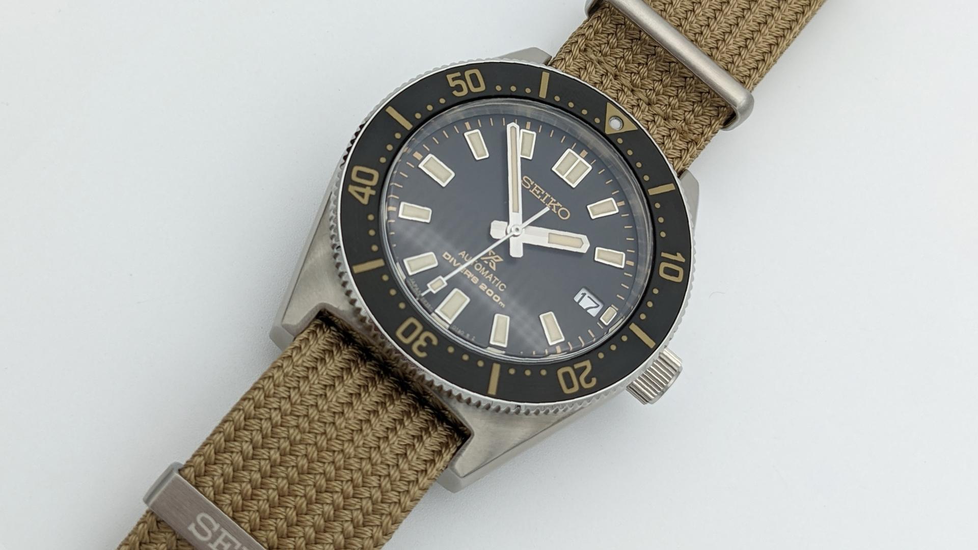 Seiko Prospex Vintage Diver Ersatzband Beige